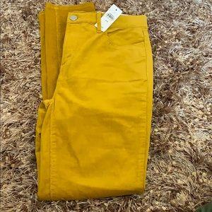 Loft high waist skinny mustard lightweight cords 4